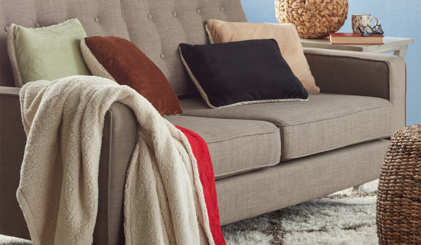 How to drape a throw on your sofa