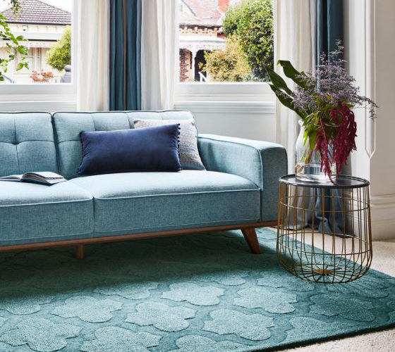 Carpet placement in your Living Room