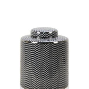 Black & White Chevron Tall Jar