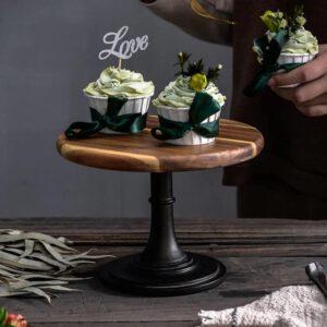 8″ Acacia Wood Cake Stand