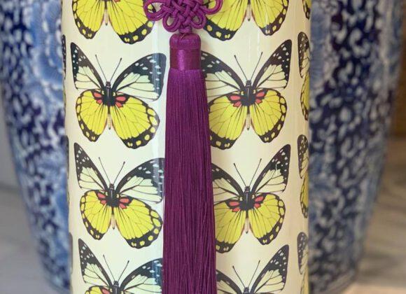 Yellow Butterfly Tall Jar