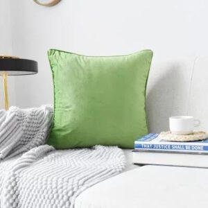 Green Plush Velvet Cushion Cover